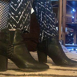 Dolce Vita Black Leather Heeled Ankle Boots